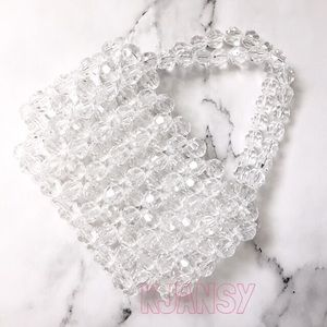 NEW! Clear Acrylic Faceted Beaded Bag